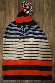 "Love this nautical striped scarf!  The varied sized stripes and colors make it pop!  Shop: https://www.shoppinwithsailin.com/collections/scarves/products/black-red-light-blue-blue-striped-scarf?utm_content=bufferb1e41&utm_medium=social&utm_source=pinterest.com&utm_campaign=buffer  70"" x 31"" 100% Polyester FREE SHIPPING!!!"