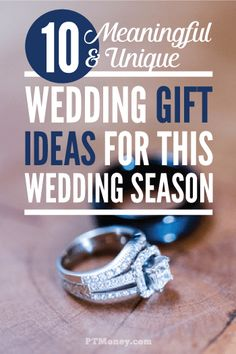 The most meaningful and unique wedding gifts don't have to be expensive. Check out this list of 5 great ideas for frugal wedding gifts that will mean a lot to any couple. Wedding season is coming, so be prepared! Creative Wedding Gifts, Wedding Gifts For Couples, Unique Wedding Gifts, Wedding Favors Cheap, Unique Weddings, Wedding Ideas, Homemade Wedding Gifts, Unique Gifts, Wedding Expenses