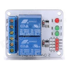 2-Channel 24V Relay Module for 51 / AVR / AVR / ARM for Arduino (Works with Official Arduino Boards). Model N/A Quantity 1 Color White Material FR4 Features 2 Channel 24V Relay Module Application This is a 24V 2-channel relay interface board, be able to control various appliances, and other equipments with large current. Great for DIY projects Other Equipped with high-current relay, AC250V 10A ; DC30V 10A Packing List 1 x 2-channel relay module. Tags: #Electrical #Tools #Arduino #SCM…