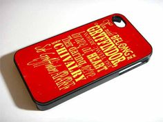 GRYFFINDOR QUOTE for iPhone 4/4s/5/5s/5c, Samsung Galaxy s3/s4 case
