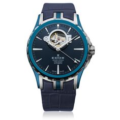 """Since Edox has produced precision timepieces with passion, ingenuity and meticulous attention to detail. The name """"Edox"""" means """"the hour"""" in ancient Greek, and . Diamond City, Casio Watch, Omega Watch, Rolex Watches, Ocean, Leather, Blue, Accessories, Heart"""