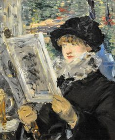 All sizes | Edouard Manet - Woman Reading, 1880 at Art Institute of Chicago IL | Flickr - Photo Sharing!