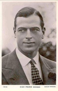 Prince George, Duke of Kent, the fourth son of King George V and Queen Mary. (1902-1942). He was killed in an airplane crash in Scotland while on active duty with the Royal Air Force. He is the father of Princes Edward and Michael, and Princess Alexandra.