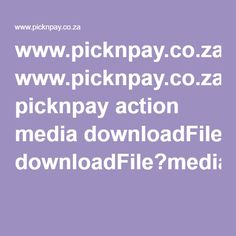 Download your weekly meal plan and recipes @picknpay