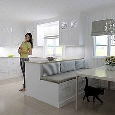 kjøkken med sittebenk - Google-søk