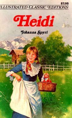 Heidi by Johanna Spyri adapted Deidre S. Laiken illustrated used paperback 1977 Price Sticker, Chapter Books, Mint, Illustration, Illustrations, Peppermint
