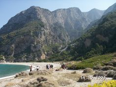 Walking from Drakei to Potami, a hike along the west coast of Samos. Here: Megalo Seitani.