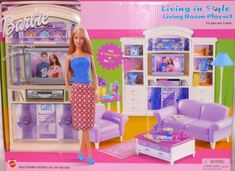 Barbie Living in Style Living Room Play Set by Mattel