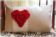 Velcro!  Add seasonal bling to your pillows.