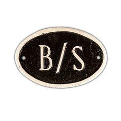 Basic Oval 1-Line Address Plaque - PCS-4P-B/S-W