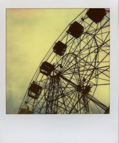 HIGH Outdoor polaroid picture taken by a Polaroid 600 camera, PX680 color film