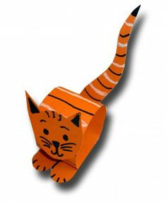 Yes, more cat crafts. Adorable! Could be a napkin ring or something.