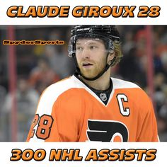 Claude Giroux Reaches 300 NHL Assists   Spyder Sports Lounge