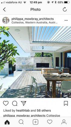Pergola Ideas For Patio Outdoor Living Areas, Indoor Outdoor Living, Outdoor Rooms, Outdoor Dining, Outdoor Decor, Outdoor Pergola, Outdoor Fire, Pergola Kits, Pergola Lighting