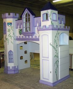 Castle Bunk Bed with Drawer Bank