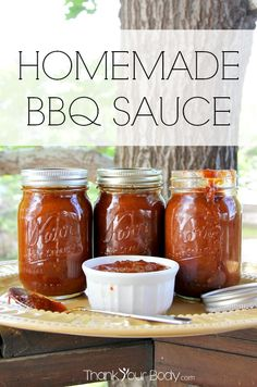 BBQ Sauce Make your own sweet-and-savory BBQ sauce! No corn syrup or additives, just sticky, spicy goodness.Make your own sweet-and-savory BBQ sauce! No corn syrup or additives, just sticky, spicy goodness. Homemade Bbq, Homemade Sauce, Homemade Recipe, Clean Recipes, Real Food Recipes, Healthy Recipes, Clean Foods, Fast Recipes, Healthy Eats