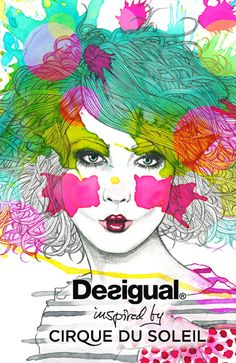 In store advertising for Desigual by Kaitlin O'Connor, via Behance