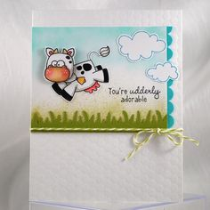 Adorable cow CAS card