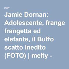 Jamie Dornan: Adolescente, frangetta ed elefante, il Buffo scatto inedito (FOTO) | melty - Linkis.com
