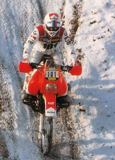 Gaston Rahier - Prologue Paris Dakar 1986. Enduro Motorcycle, Bmw Scrambler, Motorcycle Types, Racing Motorcycles, Rallye Paris Dakar, Enduro Vintage, Rallye Raid, Bmw Boxer, R80