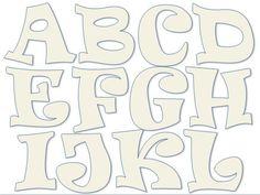 Different Letter Fonts, Alfabeto Graffiti, Cartoon Letters, Elephant Applique, Graffiti Designs, Alphabet Stencils, Bubble Letters, Cute Fonts, Printable Letters