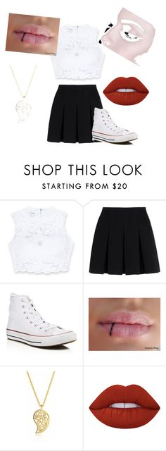"""""""For an date"""" by dragana98-pan on Polyvore featuring Bebe, Alexander Wang, Converse, Sonal Bhaskaran and Lime Crime"""