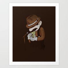 8-bit Blues Art Print by Jacques Maes - $18.00 | Super Mario
