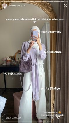 Modern Hijab Fashion, Korean Girl Fashion, Hijab Fashion Inspiration, Workwear Fashion, Muslim Fashion, Fashion Outfits, Casual Hijab Outfit, Cute Casual Outfits, Hijab Style Tutorial