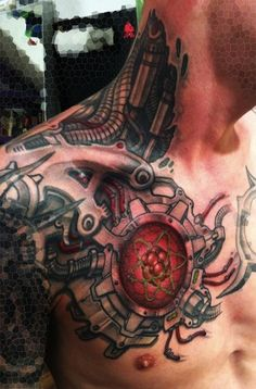 biomechanical to geometric tattoo - Google Search