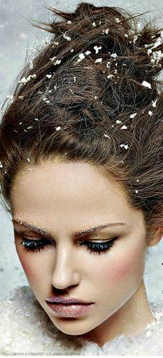 'Snow Queen' - Harrods Magazine Christmas Beauty Special