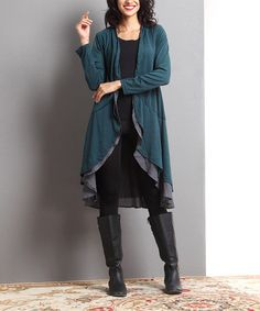 Another great find on #zulily! Emerald Open Drape Cardigan #zulilyfinds