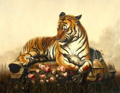 "El Hurgador [Arte en la Red]: Martin Wittfooth, ""Piedad II / Pieta II"", óleo sobre lienzo / oil on canvas, 40"" x 64"", 2013.  Colección de / Collection of Jillian Salik."