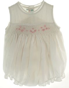 4dabb9045bd8 Feltman Brothers Feltman Brother Baby Girls White Smocked Bubble Outfit  (6M) Heirloom Sewing,