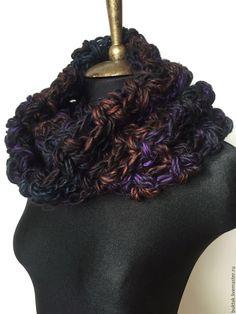 Купить Снуд КОСМИЧЕСКОЕ ПРИТЯЖЕНИЕ - комбинированный, шарф женский, шарф вязаный, шарф-снуд