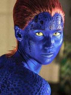 Jennifer Lawrence drops Mystique spoiler for 'X-Men: Days of Future Past' Marvel Women, Marvel X, Marvel Heroes, Marvel Characters, Marvel Movies, Jennifer Lawrence X Men, Mystique Marvel, Days Of Future Past, Painted Horses