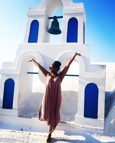 There's something about #Santorini...taking it in with @lolalimeto. // Travel Well #TravelFly!