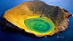 Volcanic Crater Off Santiago Island Galapagos Islands Ecuador