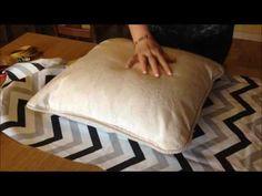 Funda de cojín sin cierres - Cómo hacerlas en 5 minutos. DIY costura - YouTube
