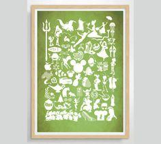 Disney Movie Poster Print on Etsy, $13.88
