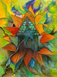 "Saatchi Art Artist jill hungerford; Painting, ""Stars house ,one"" #art"