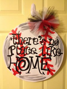 Baseball Doorhanger by SouthernChic36301 on Etsy, $40.00