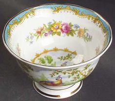 Royal Albert Chelsea Bird Blue Open Sugar Bowl