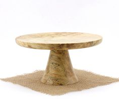 """8 1/2"""" Spalted Maple Cake Stand, Pedestal Cake Plate, Cupcake Stand,Featured in Fine Cooking Magazine"""