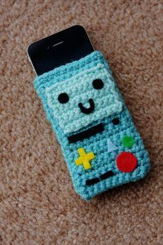 Adventure Time Beemo Phone Cozy. :)