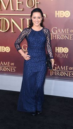 Pin for Later: The Game of Thrones Cast Was Hardly Recognisable at Last Night's Premiere Keisha Castle-Hughes Keisha is new to the cast, but we think she'll fit right in — or stand out, like she does in this sheer, patterned blue gown.