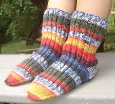 Grow with me!  Child's sock pattern with directions for increasing size the following year(s).  Free download!