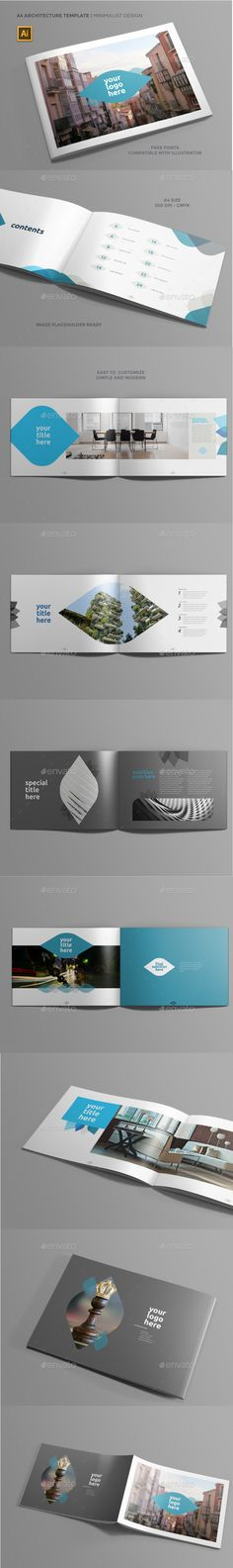 A4 Architecture Brochure   Minimalist Design - Brochures Print Templates Download here : https://graphicriver.net/item/a4-architecture-brochure-minimalist-design/19437117?s_rank=123&ref=Al-fatih