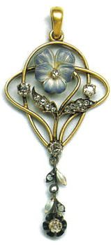 Pendant. Moscow, 1899-1908. Gold, diamonds and enamel