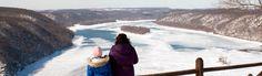 Enjoy a winter vista from Susquehannock State Park