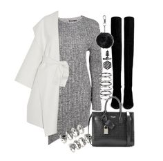 """""""Untitled #19426"""" by florencia95 ❤ liked on Polyvore featuring Stuart Weitzman, Forever 21, Yves Saint Laurent, Bottega Veneta, Topshop, M.N.G and Simply Vera"""